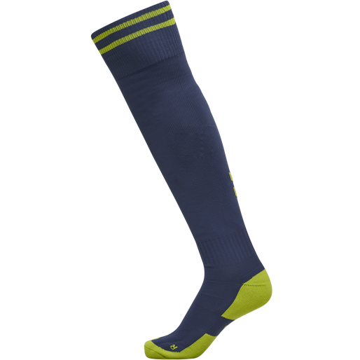 ELEMENT FOOTBALL SOCK , DARK DENIM/LIME PUNCH, packshot