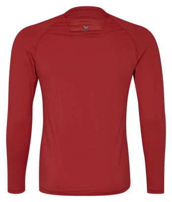 HUMMEL FIRST PERFORMANCE JERSEY L/S, TRUE RED, packshot