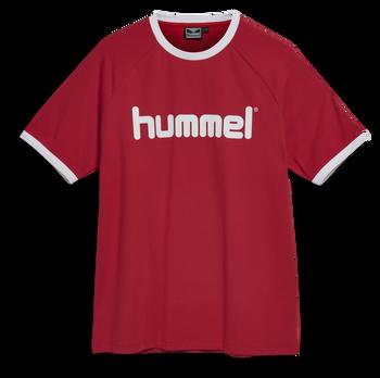 hmlBAY T-SHIRT S/S, TRUE RED, packshot