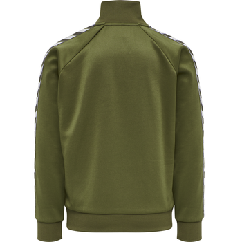 HMLKICK ZIP JACKET, MILITARY OLIVE, packshot