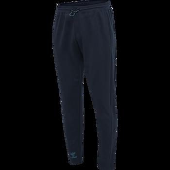 hmlACTION COTTON PANTS, DARK SAPPHIRE/BLUE CORAL, packshot