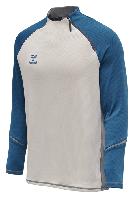 hmlINVENTUS HALF ZIP SWEAT, BLUE SAPPHIRE/SHARKSKIN, packshot