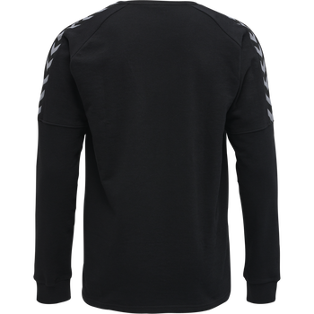 hmlAUTHENTIC TRAINING SWEAT, BLACK/WHITE, packshot