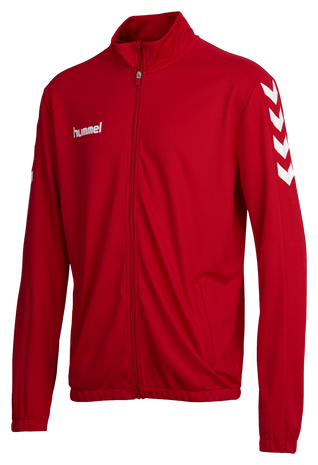 CORE POLY JACKET, TRUE RED, packshot
