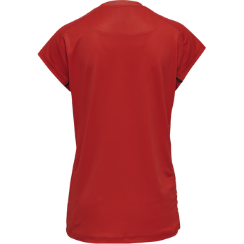 DVV 21 THIRD JERSEY S/S WOMAN, TRUE RED, packshot