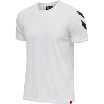 hmlLEGACY CHEVRON T-SHIRT, WHITE, packshot