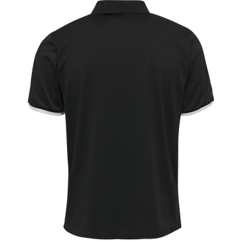hmlAUTHENTIC FUNCTIONAL POLO, BLACK/WHITE, packshot