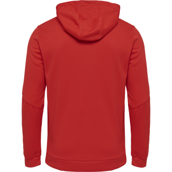 hmlAUTHENTIC POLY ZIP HOODIE, TRUE RED, packshot