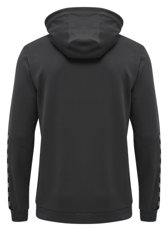 hmlAUTHENTIC KIDS POLY HOODIE, ASPHALT, packshot