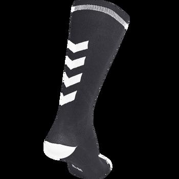 ELITE INDOOR SOCK HIGH, BLACK/WHITE, packshot