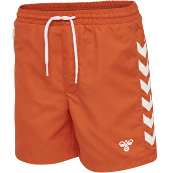 hmlDELTA BOARD SHORTS, MANDARIN RED, packshot