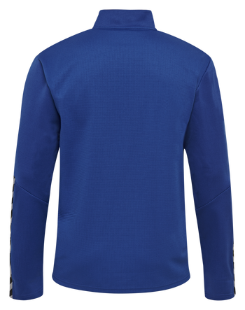 hmlAUTHENTIC KIDS HALF ZIP SWEATSHIRT, TRUE BLUE, packshot