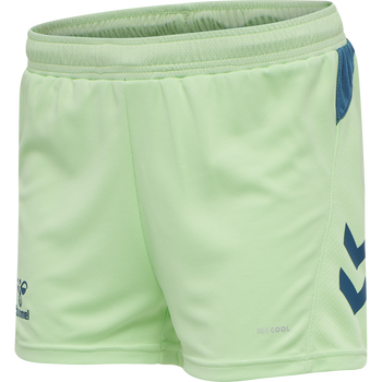 hmlACTION SHORTS WOMAN, GREEN ASH/BLUE CORAL, packshot