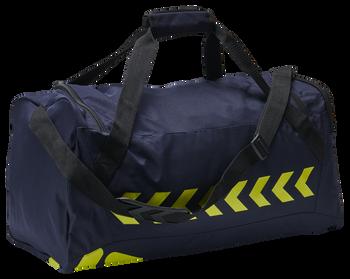 hmlACTION SPORTS BAG, MARINE/SAFETY YELLOW, packshot