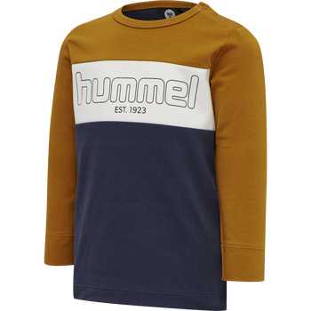 hmlNORTH T-SHIRT L/S, PUMPKIN SPICE, packshot