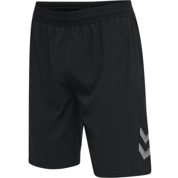 hmlLEAD PRO TRAINING SHORTS, BLACK, packshot