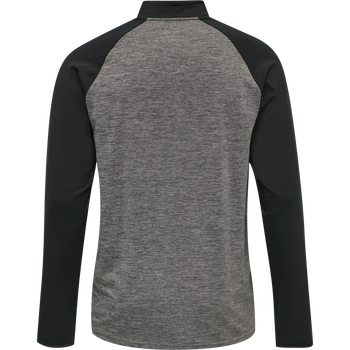 DBU PLAYER PRO TRAINING HALF ZIP, DARK GREY MELANGE, packshot