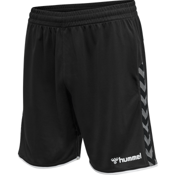 hmlAUTHENTIC POLY SHORTS, BLACK/WHITE, packshot