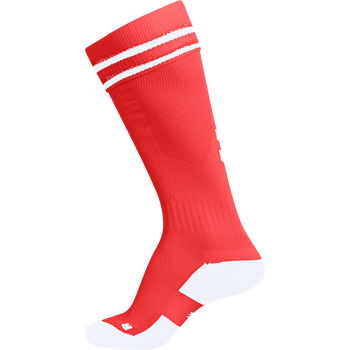 ELEMENT FOOTBALL SOCK , FIRE RED/WHITE, packshot
