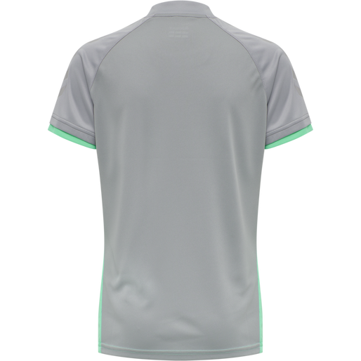 hmlACTION JERSEY S/S WOMAN, ELECTRIC GREEN/ALLOY, packshot