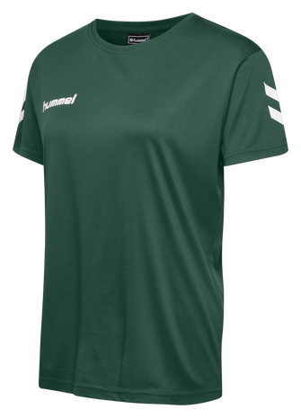 CORE POLY TEE WOMAN S/S, EVERGREEN, packshot