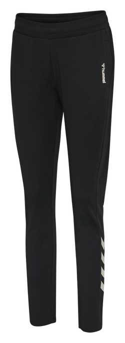 hmlZIBA TAPERED PANTS, BLACK, packshot