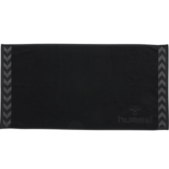 HUMMEL SMALL TOWEL, BLACK, packshot