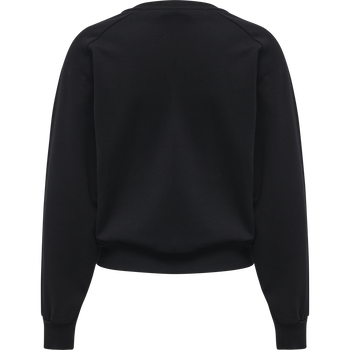 HMLSTELLA SWEAT SHIRT, BLACK, packshot
