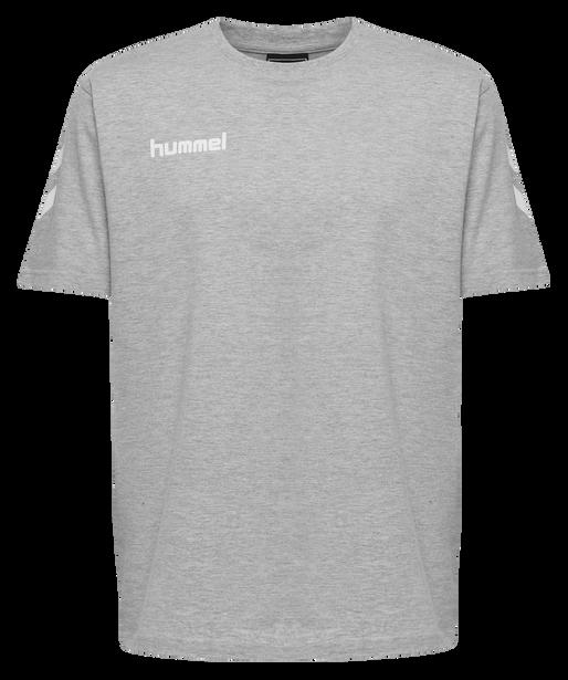 HUMMEL GO COTTON T-SHIRT S/S, GREY MELANGE, packshot