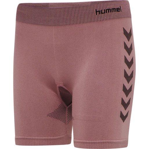 hmlFIRST SEAMLESS TRAINING SHORT TIGHTS WOMEN, DUSTY ROSE, packshot