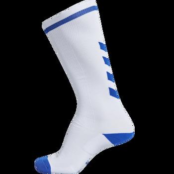 ELITE INDOOR SOCK HIGH, WHITE/TRUE BLUE, packshot