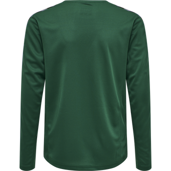 hmlAUTHENTIC KIDS POLY JERSEY L/S, EVERGREEN, packshot
