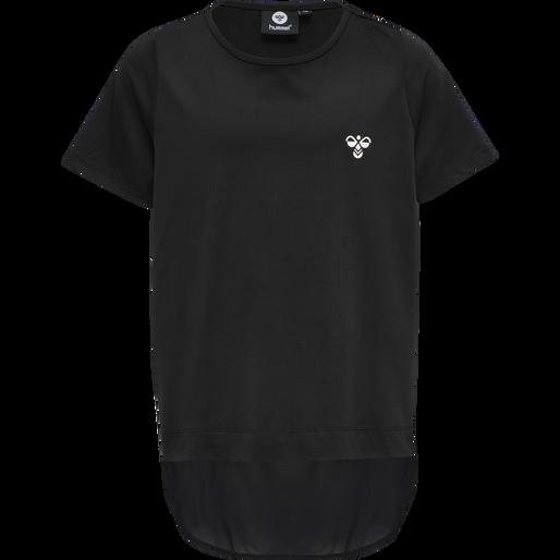 hmlBOLETTE T-SHIRT S/S, BLACK, packshot