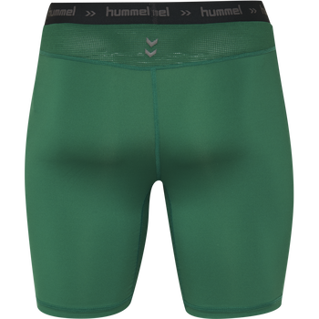 HUMMEL FIRST PERFORMANCE TIGHT SHORTS, EVERGREEN, packshot
