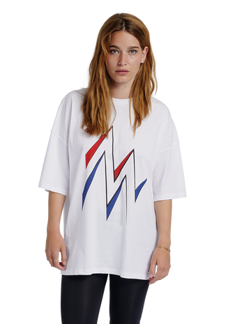 hmlMARATHONA T-SHIRT, WHITE, model