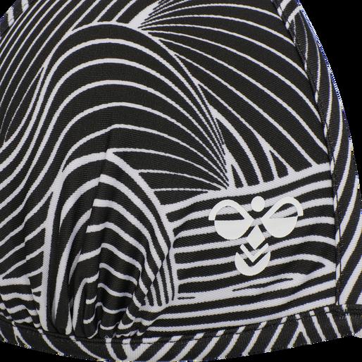 hmlOCEAN SWIM TRIANGLE TOP, BLACK/WHITE, packshot