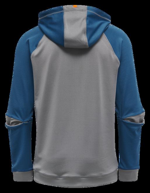 hmlINVENTUS ZIP HOODIE SWEAT, BLUE SAPPHIRE/SHARKSKIN, packshot