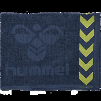 HUMMEL SMALL TOWEL, DARK DENIM/LIME PUNCH, packshot