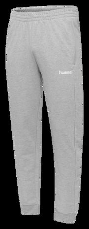 HUMMEL GO KIDS COTTON PANT, GREY MELANGE, packshot