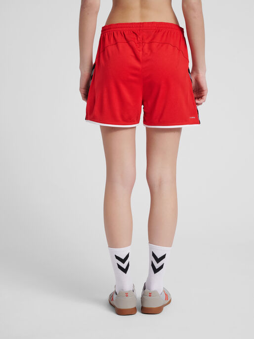 hmlAUTHENTIC POLY SHORTS WOMAN, TRUE RED, model