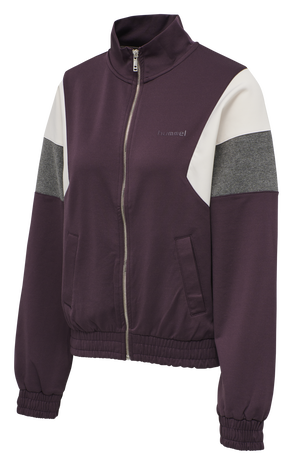 HMLMAZE ZIP JACKET, DEEP PURPLE, packshot