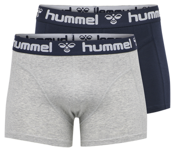 HMLMARS 2PACK BOXERS, GREY MELANGE/TOTAL ECLIPSE, packshot