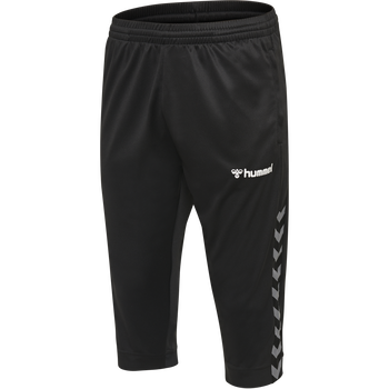 hmlAUTHENTIC 3/4 PANT, BLACK/WHITE, packshot