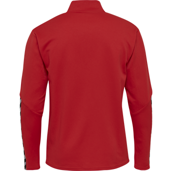 hmlAUTHENTIC KIDS HALF ZIP SWEATSHIRT, TRUE RED, packshot