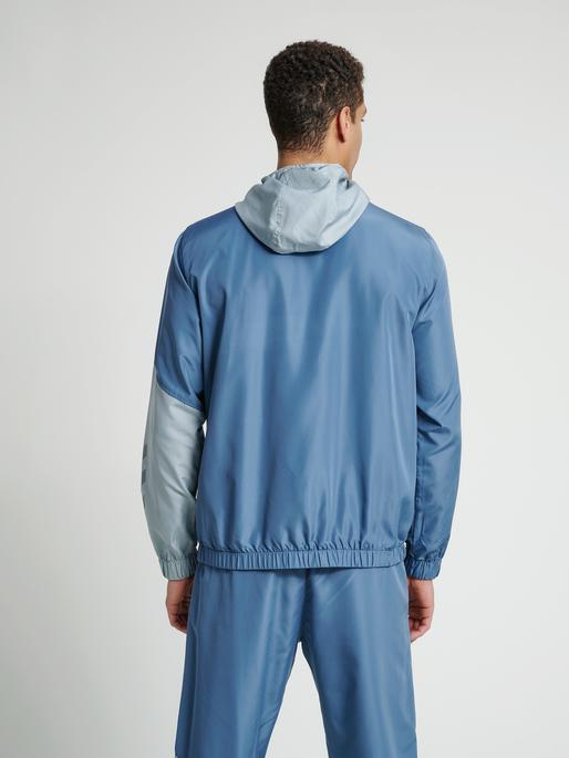 hmlSULLIVAN LOOSE ZIP HOODIE, CHINA BLUE, model