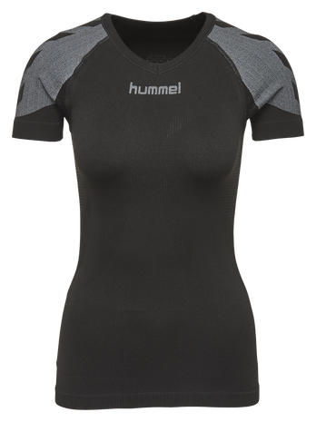 HUMMEL FIRST COMFORT SS WO JER, BLACK, packshot