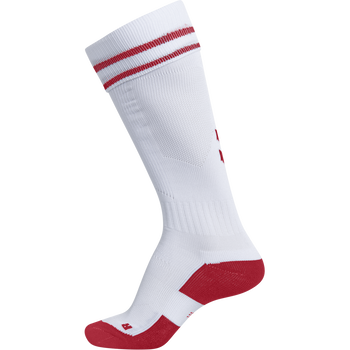 ELEMENT FOOTBALL SOCK , WHITE/TRUE RED, packshot