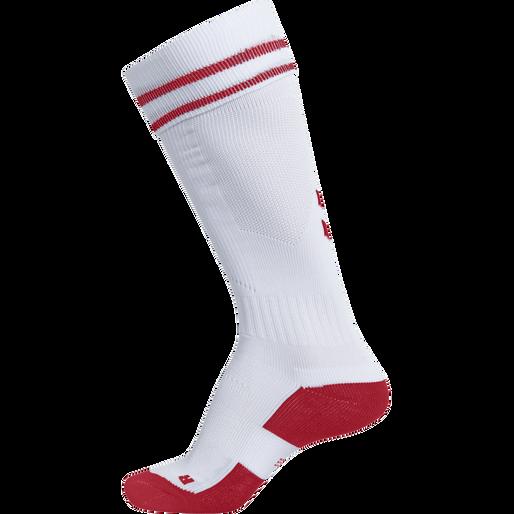 ELEMENT FOOTBALL SOCK , WHITE/TRUE RED, packshot