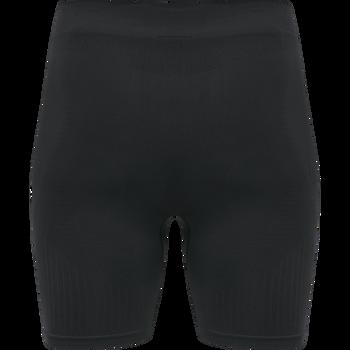 hmlSTROKE SEAMLESS TIGHT SHORTS, BLACK, packshot