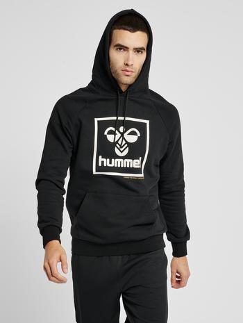 hmlISAM HOODIE, BLACK, model